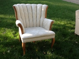 Beige Tufted Chairc